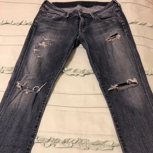 Citizens of Humanity Skinny Distressed Jeans